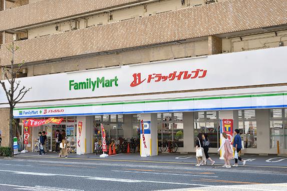ファミリーマート+ドラッグイレブン別府店:徒歩12分